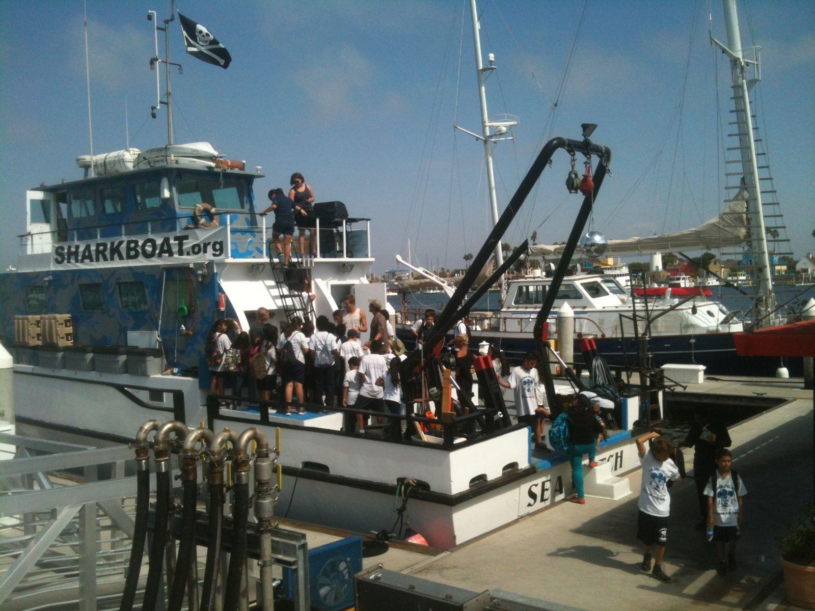 Marine Institute Students on SeaWatch - SharkBoat 13