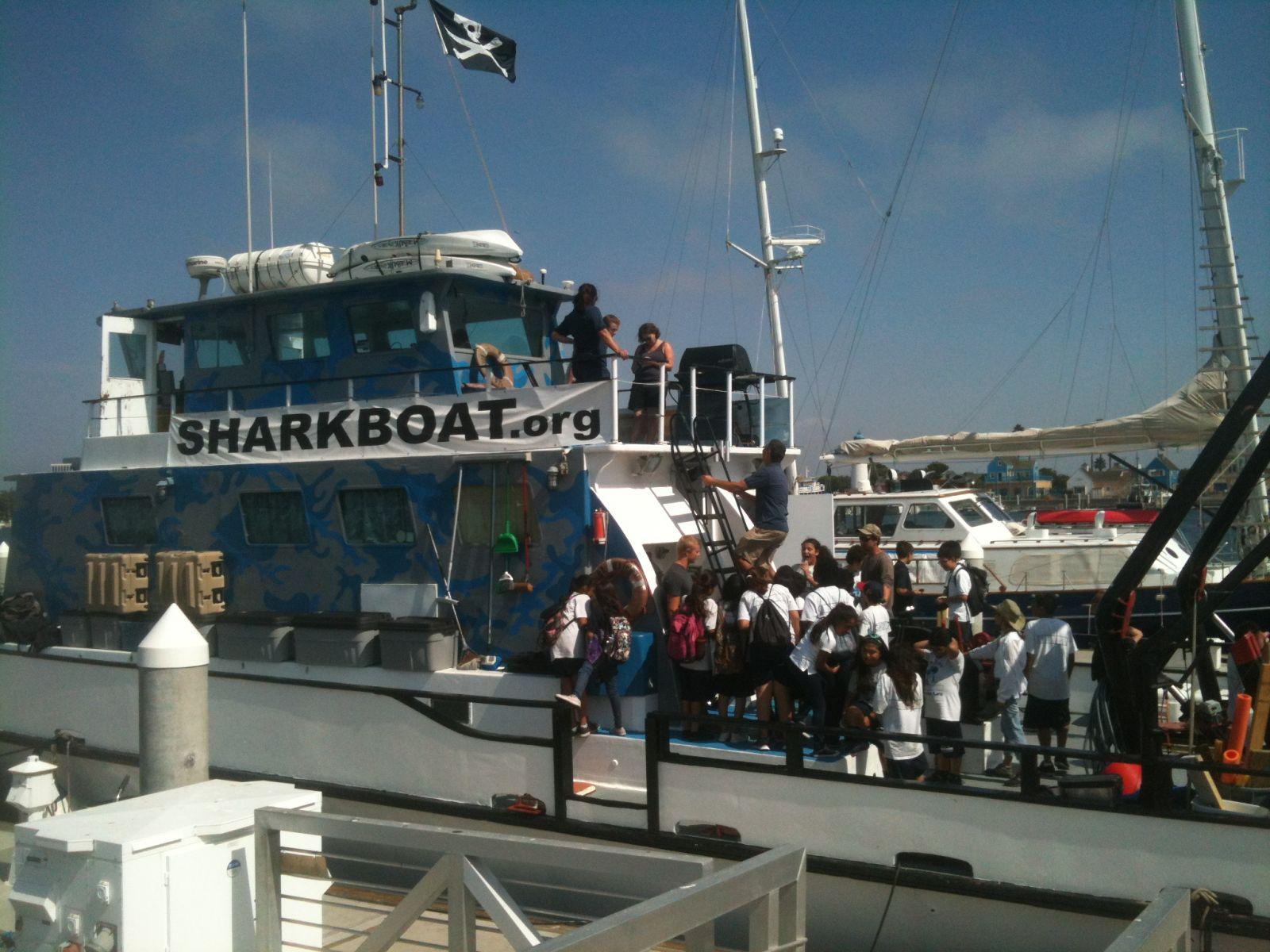 Marine Institute Students on SeaWatch - SharkBoat 12