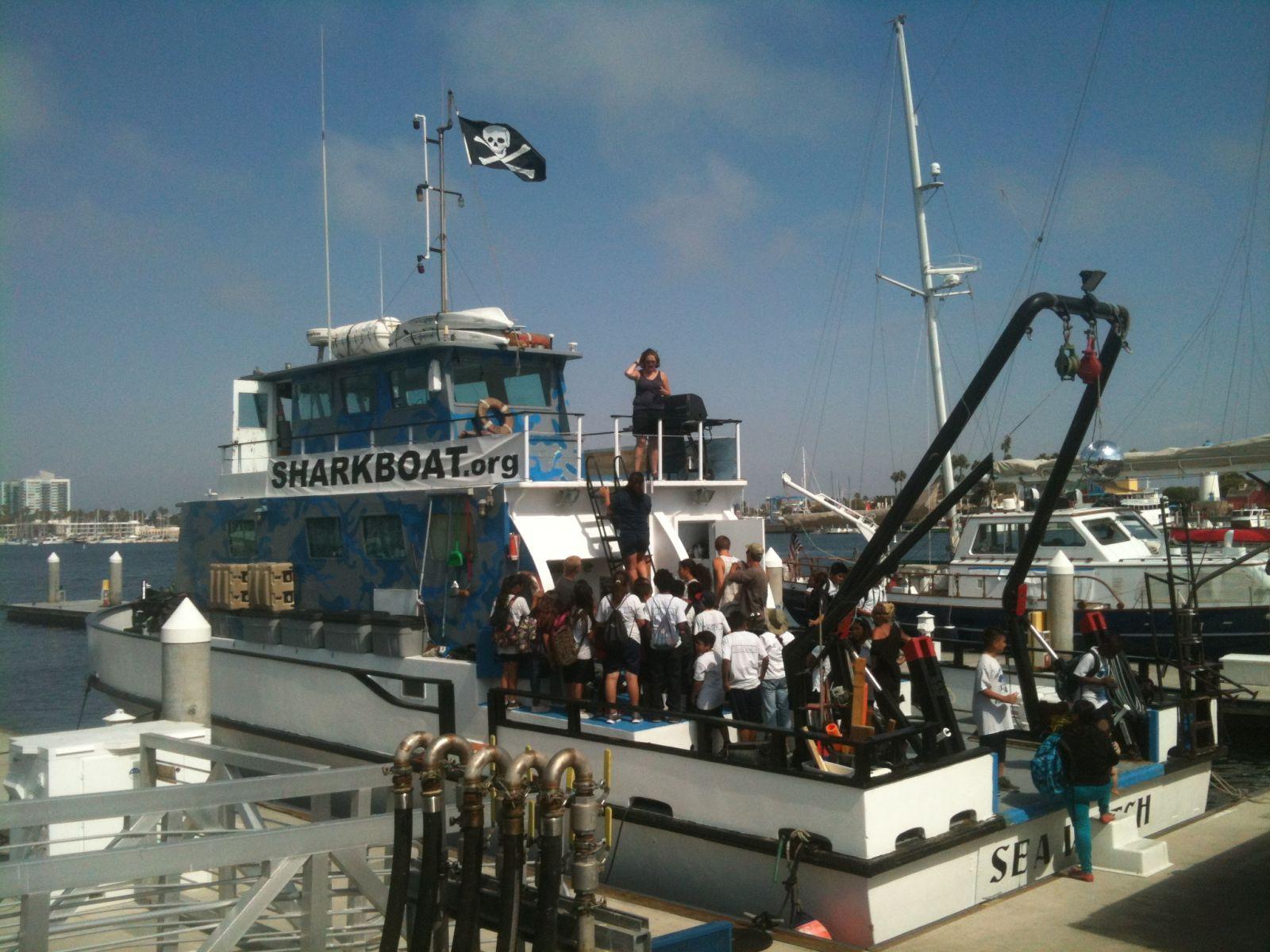 Marine Institute Students on SeaWatch - SharkBoat 15