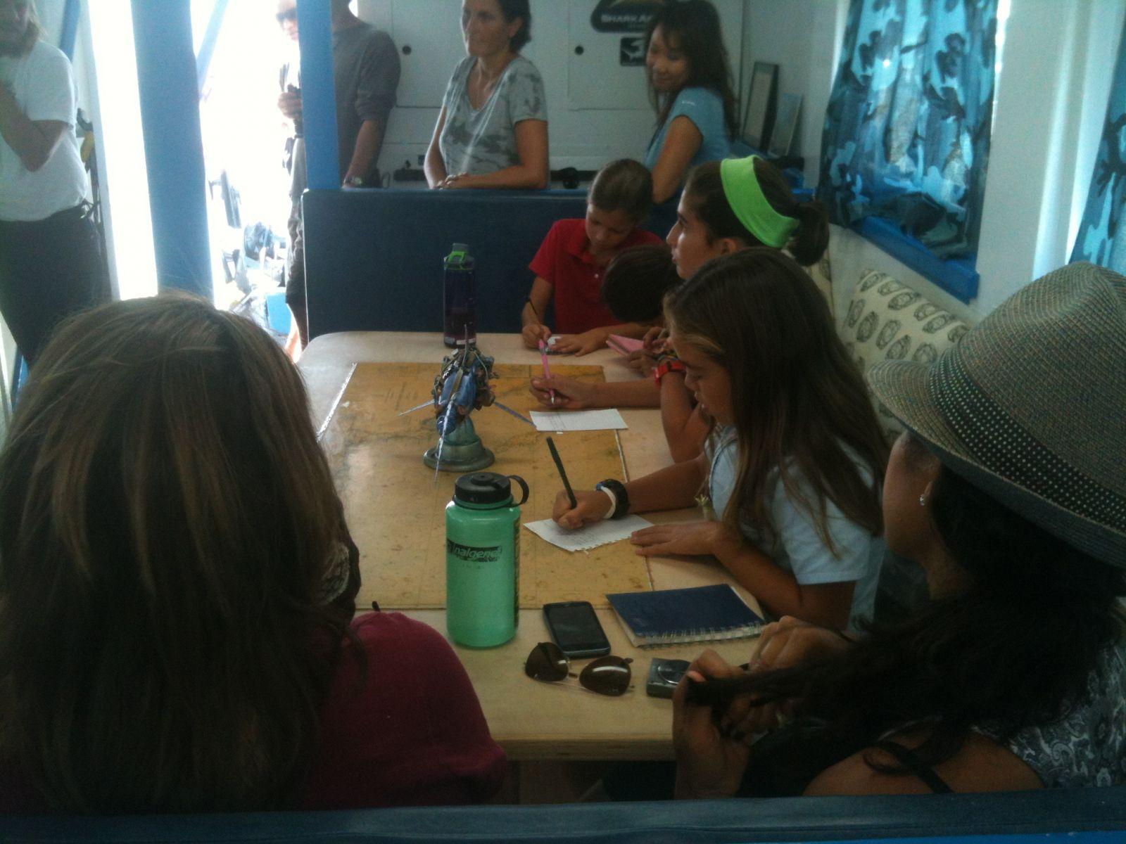 Marine Institute Students on SeaWatch - SharkBoat 9