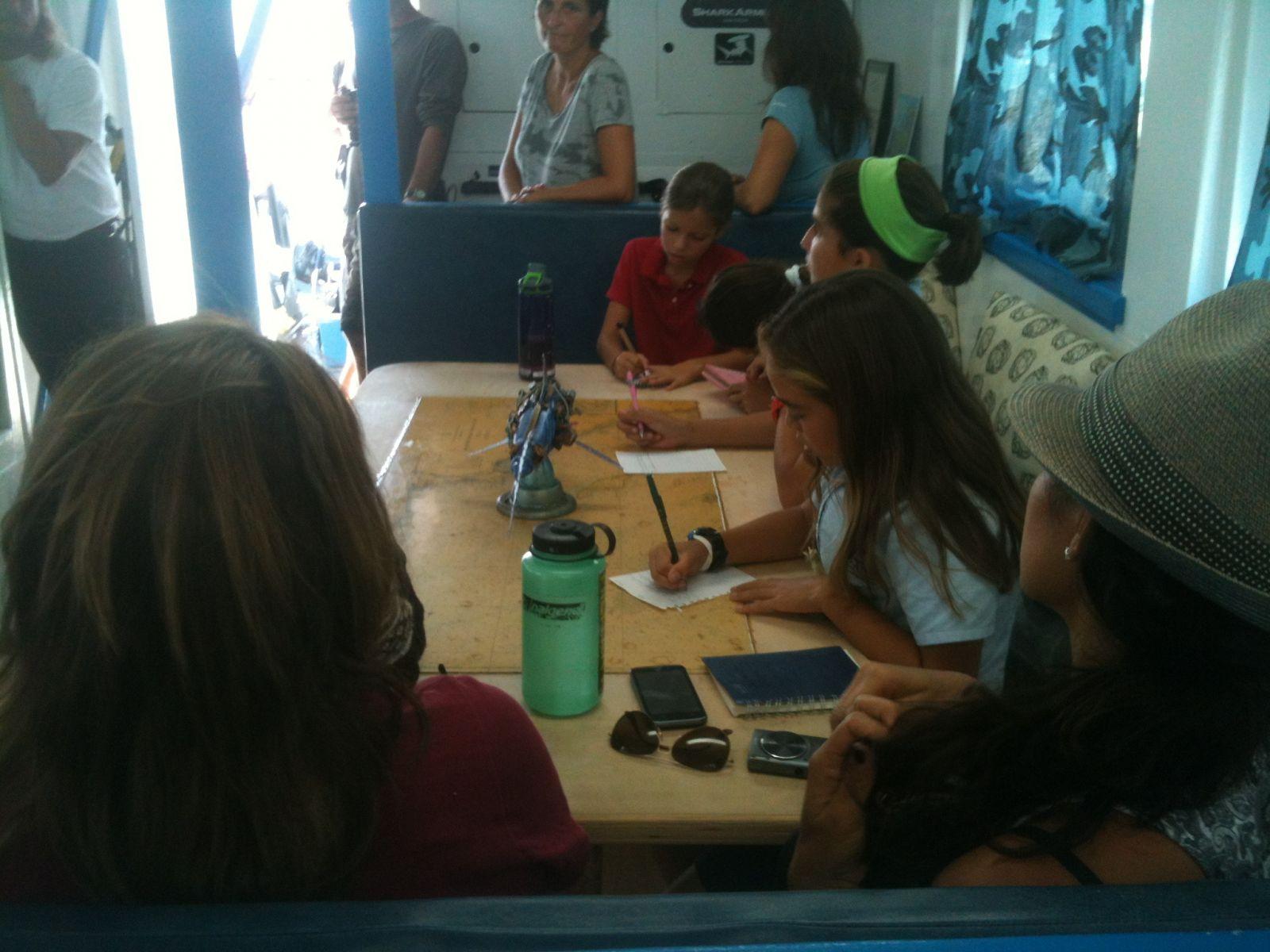 Marine Institute Students on SeaWatch - SharkBoat 8