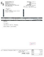 Repair 442 Invoice