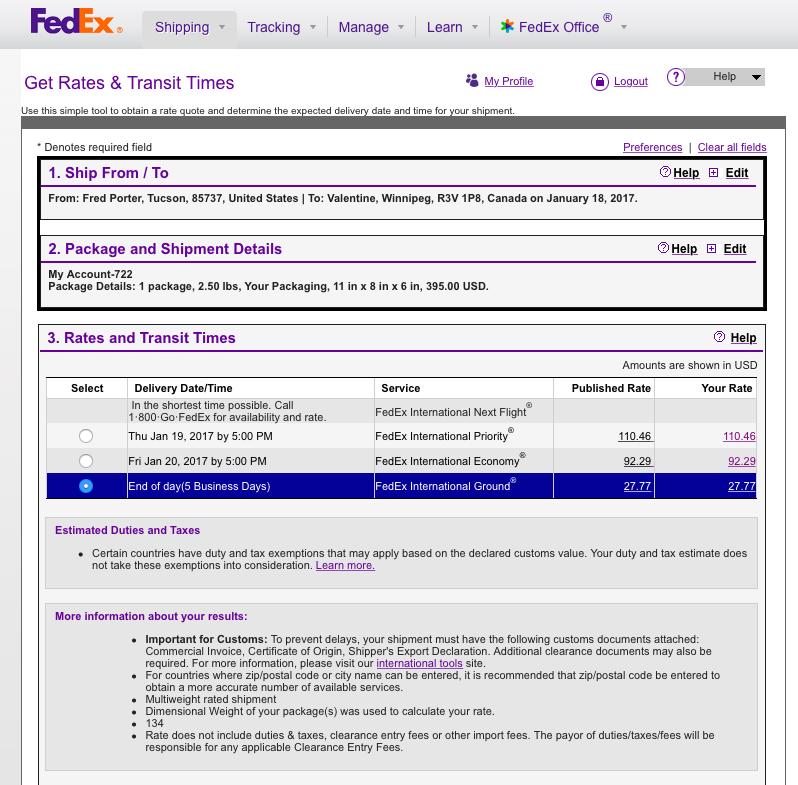 FedEx MM-1 Rates