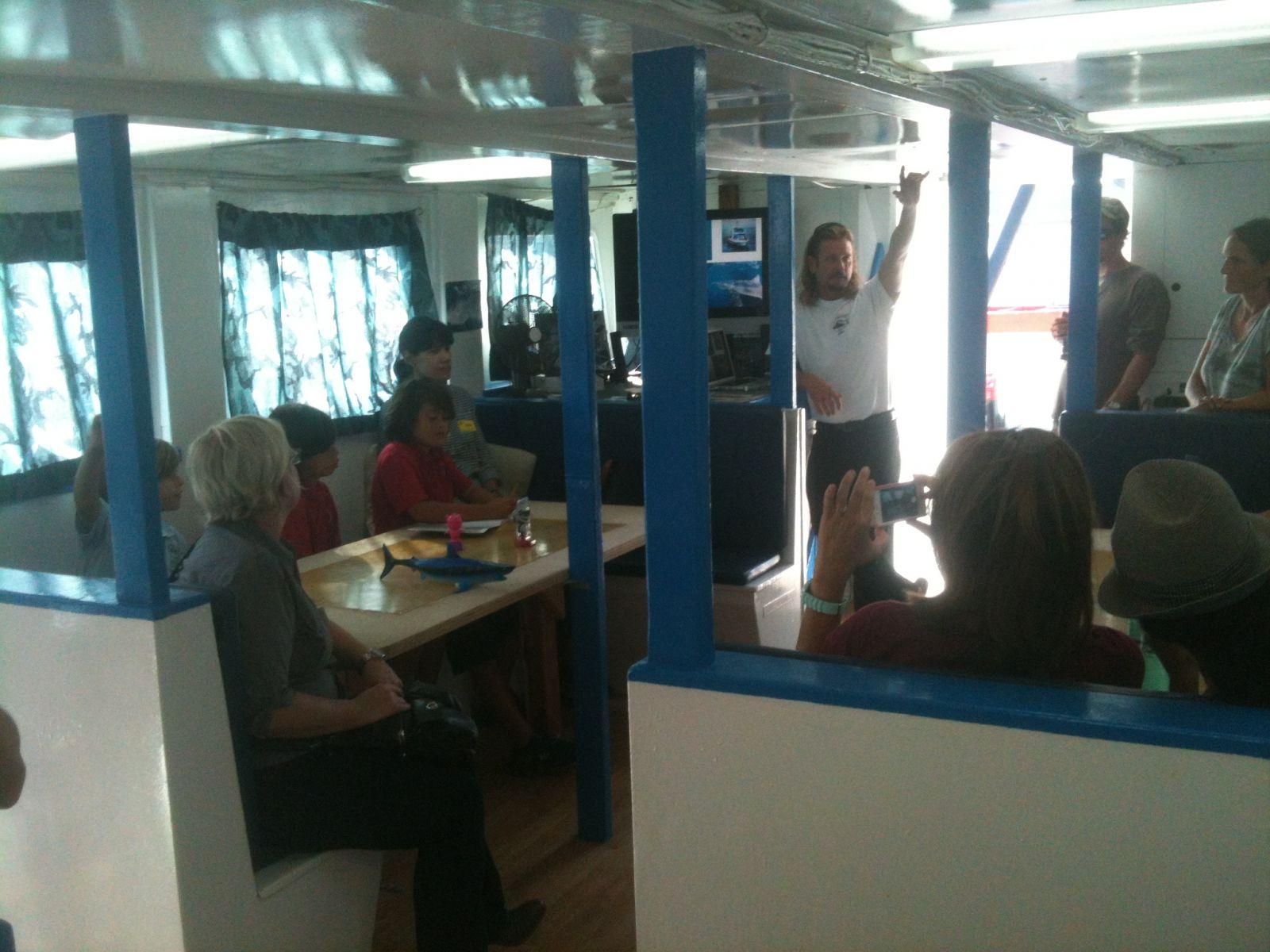 Marine Institute Students on SeaWatch - SharkBoat 5