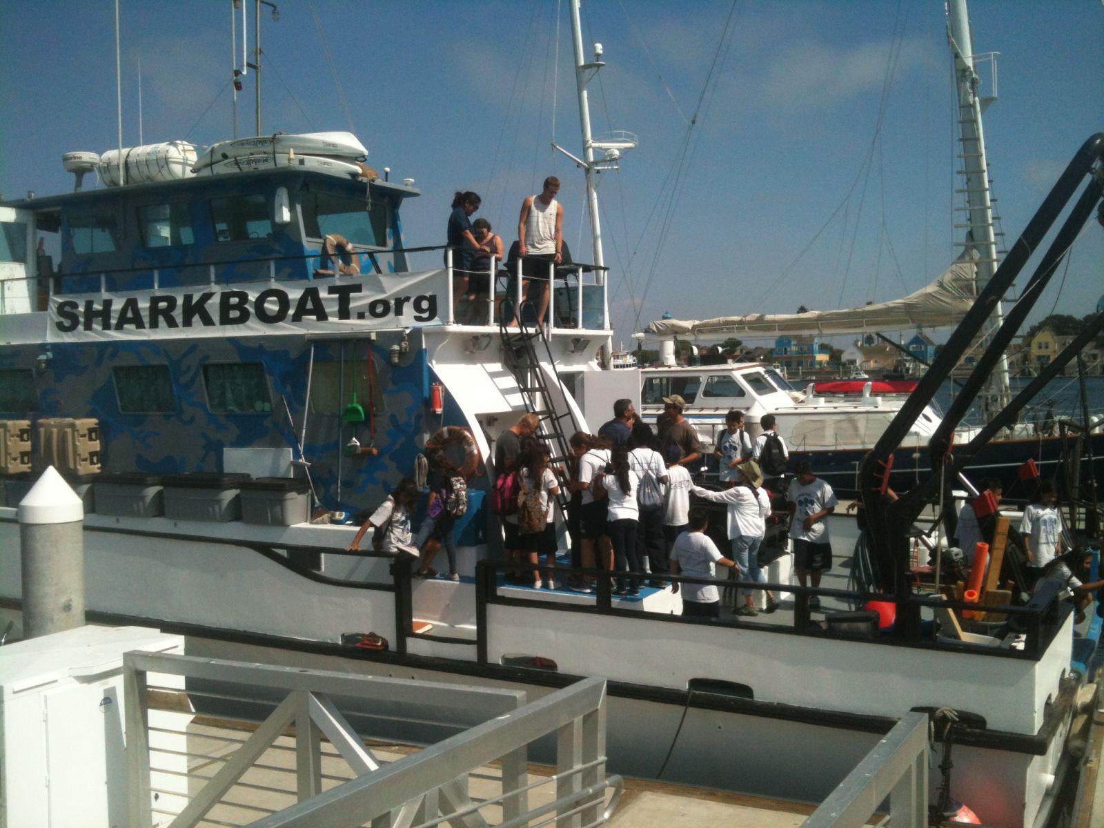 Marine Institute Students on SeaWatch - SharkBoat