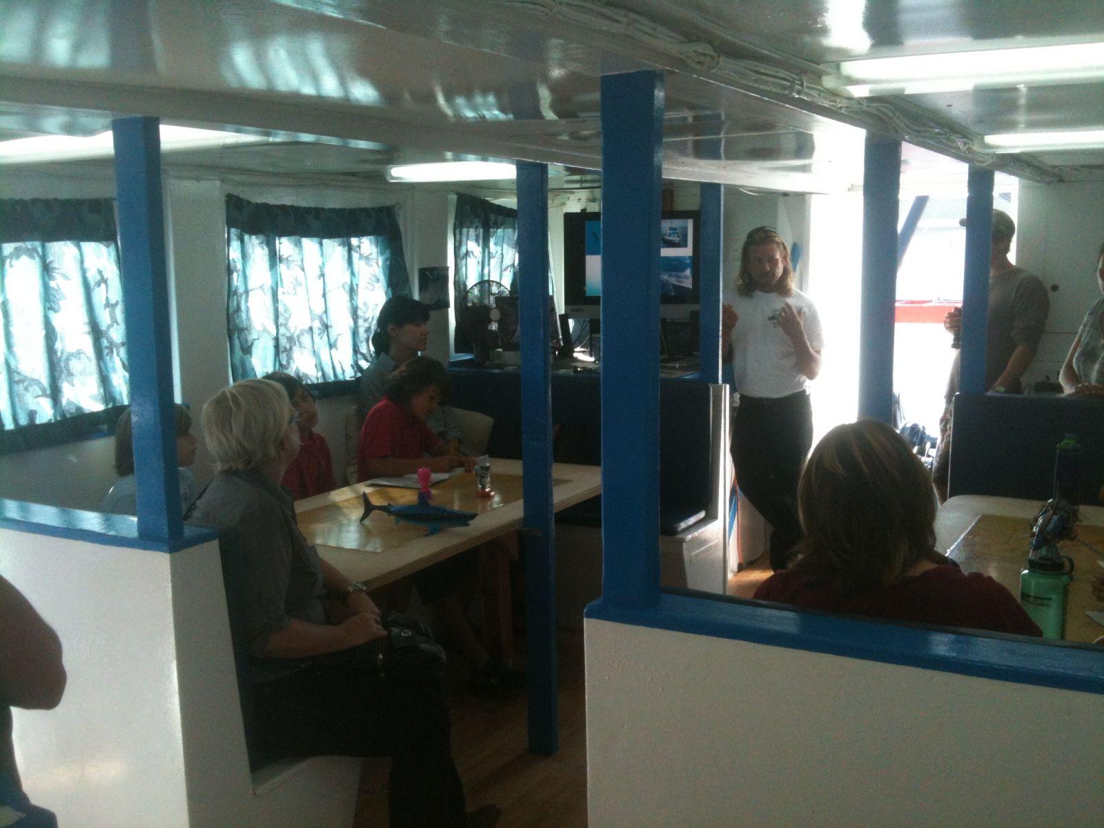 Marine Institute Students on SeaWatch - SharkBoat 4