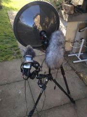 Telinga stereo dat mic, Senn.416 and a back up zoom H4N